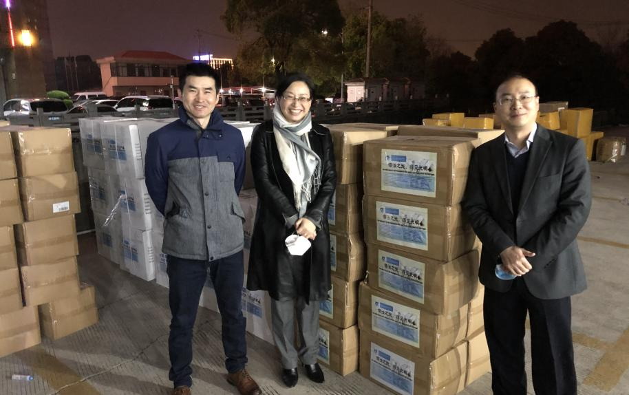Columbia alumni groups in Asia donate PPE