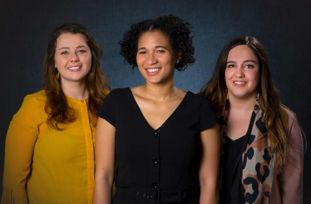 L-R: Justine LaVoye MPA-DP '19, Jenise Ogle MPA '19, and Maria José Diaz MPA '19. Photo: Brian Miller / Columbia SIPA